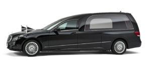 Mercedes-zwart-glas-rouwauto Charon Uitvaart SV