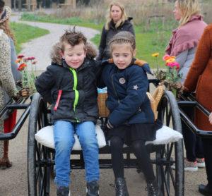 loopkoets met kinderen Geestmerloo nov 2020